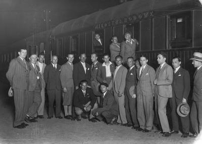 Piłka nożna w Polsce. Drużyna Polski z przedstawicielami Polskiego Związku Piłki Nożnej 1931