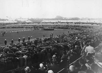 Mecz towarzyski piłki nożnej Polska - Niemcy na Stadionie Wojska Polskiego w Warszawie 1934